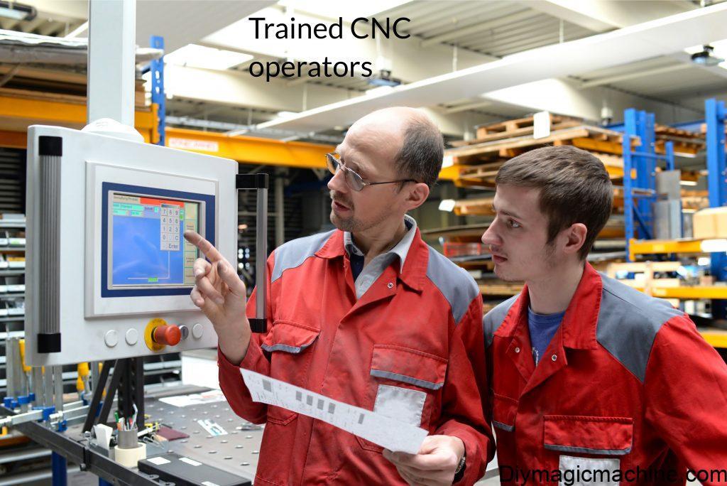 trained cnc machine operators